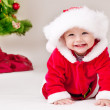Toddler in Santa costume — Stock Photo