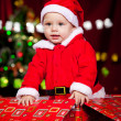 Little boy in Santa clothing - Photo