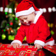 Baby in Santa costume - Foto Stock