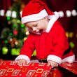 Baby in Santa costume - Photo