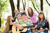 Cheerful teenagers — Stock Photo