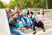 Hungry teenagers — Stock Photo