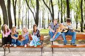 Playing guitar — Стоковое фото