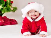 Toddler in Santa costume — Stock Photo