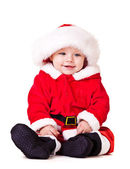 Sweet baby in Christmas costume — Stock Photo