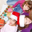 Teenagers making Christmas presents — Stock Photo #8686055
