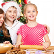 Kids cooking — Stock Photo
