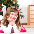 Lovely child lying — Stockfoto