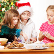 Kids making  cookies — Photo