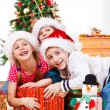 Kids fighting for presents — Stock Photo