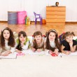 Stock Photo: Junior students drawling