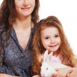 Young woman and her daughter — Stock Photo