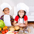 Cute african american little cooks — Stock Photo #8688619