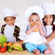 Kids cooking — Stockfoto #8688640