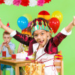 Girl at the birthday party — Stock Photo