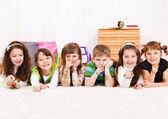 Kids pointing finger — Stock Photo