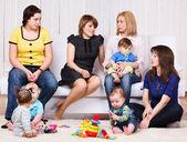 Women and their children — Stock Photo