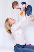 Woman playing with son — Stock Photo