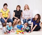 Women and kids — Stock Photo