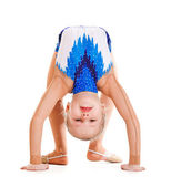 Gymnast doing bridge — Stock Photo