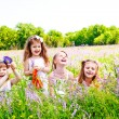 Stock Photo: Joyful little girls