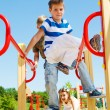Kids on the playground — Stock Photo