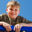 Stock Photo: Portrait of a smiling school aged boy
