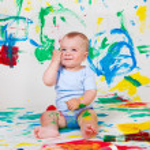 Cheerful baby boy — Stock Photo