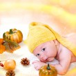 Autumn baby boy — Stock Photo #8692004