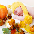 Autumnal baby — Stock Photo