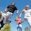 Students running — Stock Photo