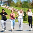 Students running — Stockfoto