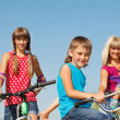 Family on bicycles — Stock Photo #8692379