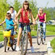 Family riding bicycles — Stock Photo #8692392
