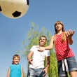 Father and children playing — Stock Photo #8692458