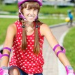 Stock Photo: Teenage girl cycling