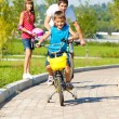 Riding bicycles — Stock Photo