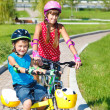 Stock Photo: Children on bikes