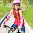 Girl in protective helmet — Stock Photo