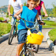 Stock Photo: Riding bicycle