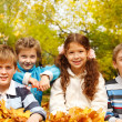 Kids in autumnal park — Stock Photo #8692762