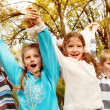 Children shouting — Stock Photo
