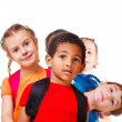 Kids with backpacks — Zdjęcie stockowe #8693755