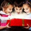Stock Photo: Kids with Christmas gift