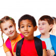 Stock Photo: Children with backpacks