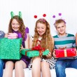 Stock Photo: Friends with presents