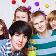 Teens at the party — Stock Photo