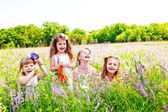 Joyful little girls — Stock Photo