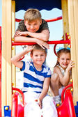 Boys and girl on the playground — Stock Photo