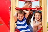 Three elementary aged children — Stock Photo
